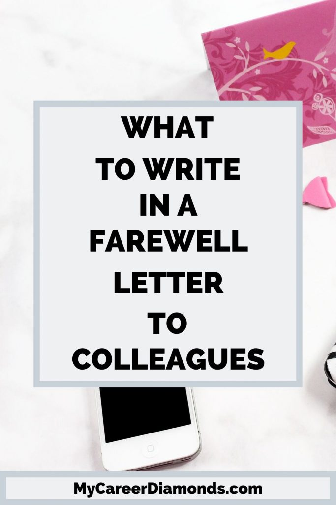 What to write in farewell letter to colleagues