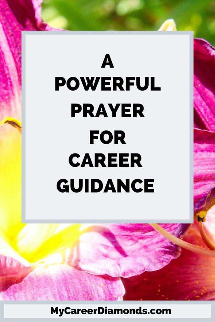 A Powerful Prayer For Career Guidance