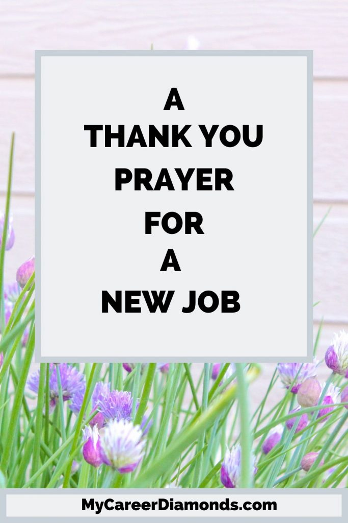 A Thank You Prayer For A New Job