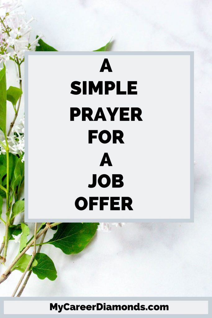 A Simple Prayer For A Job Offer